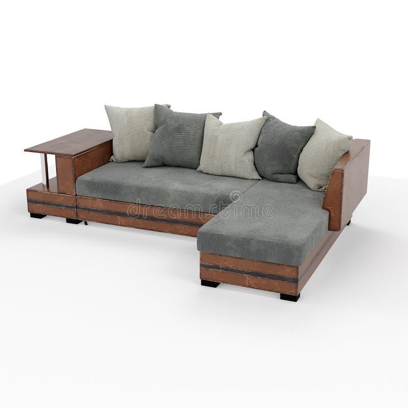 framförande 3d Modern soffa av enkel form royaltyfria bilder