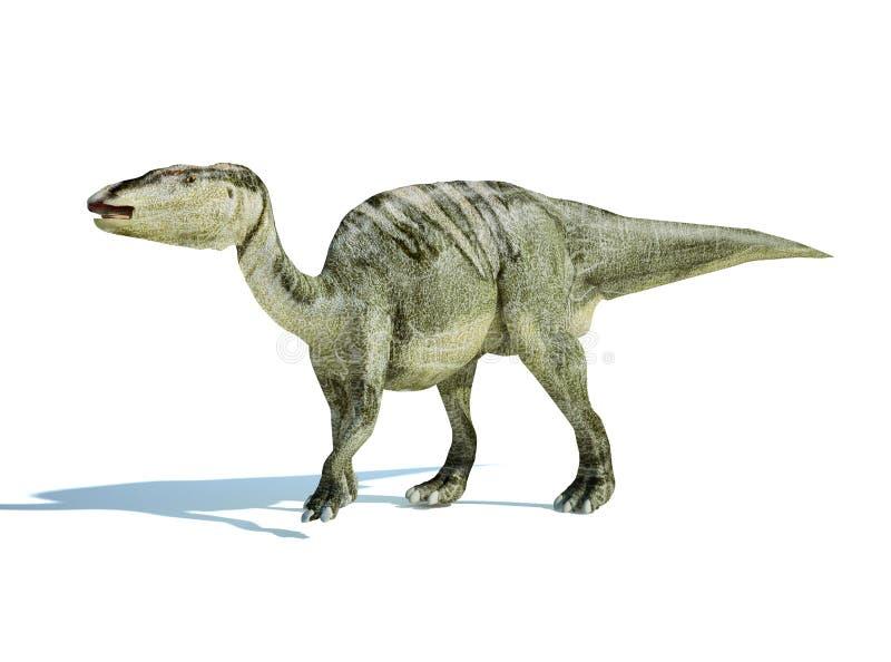 framförande för edmontosaurus för 3 D photorealistic royaltyfri illustrationer