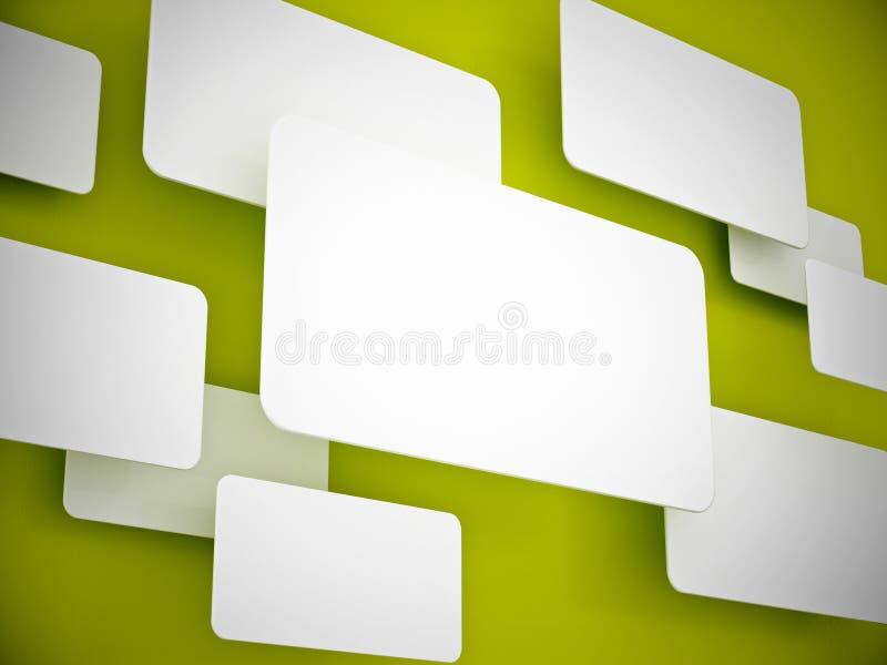 framförandesignboard för design 3d vektor illustrationer