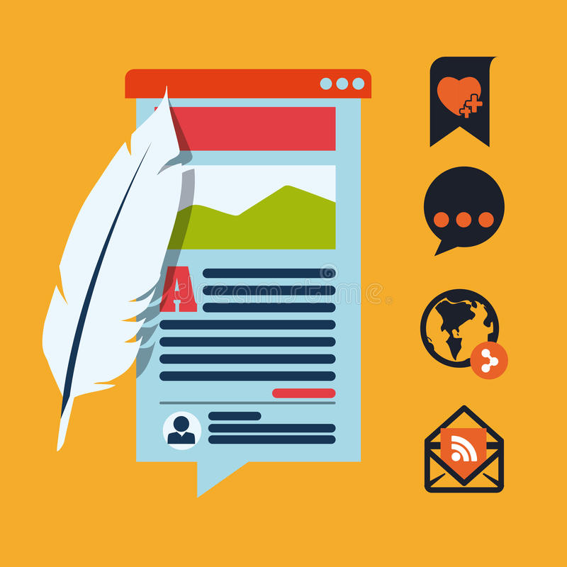 framförd begreppsbild för blog 3d vektor illustrationer