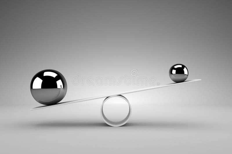 framförd begreppsbild för jämvikt 3d stock illustrationer