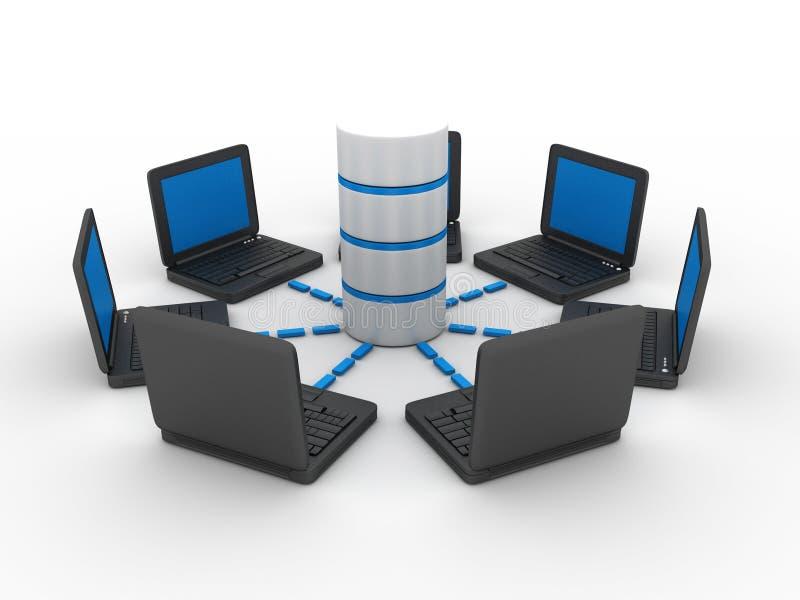 framförd bild för datornät 3d arkivbild