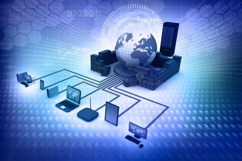 framförd bild för datornät 3d stock illustrationer