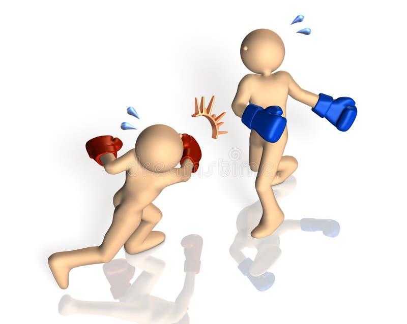 Framförd bild som visar en knockout vektor illustrationer