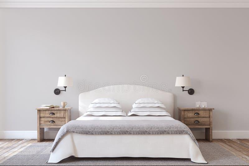framförd inre blixt för omgivande sovrum 3d 3d framför stock illustrationer