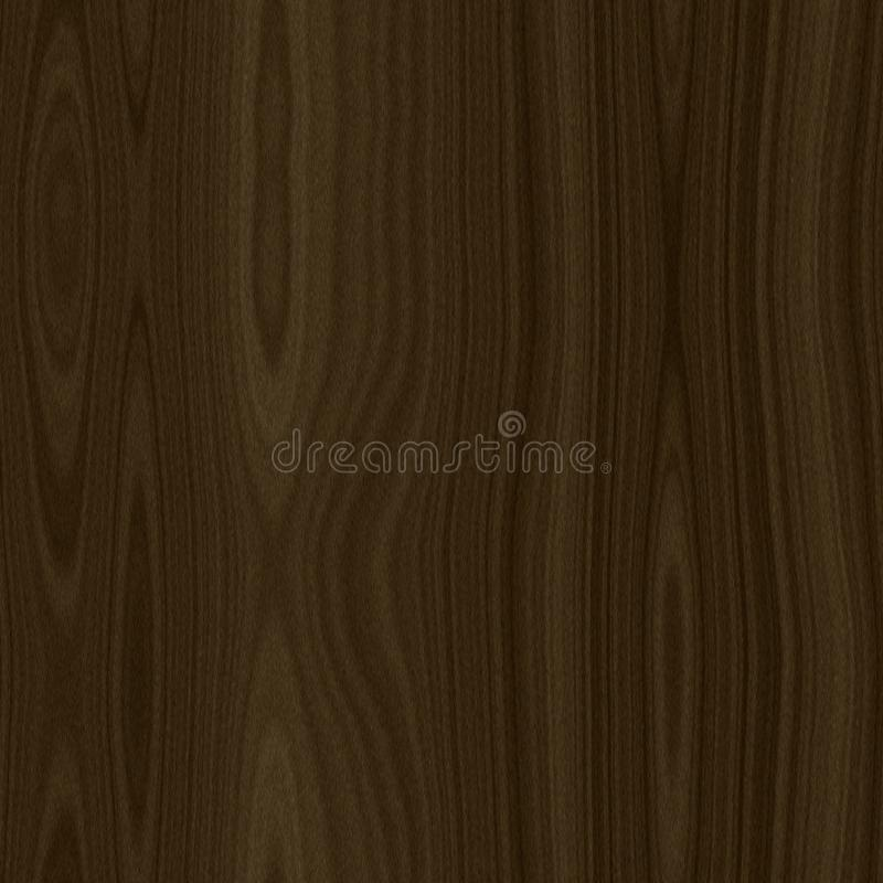 Framförd realistisk trästrukturtextur för mörk brunt royaltyfri illustrationer