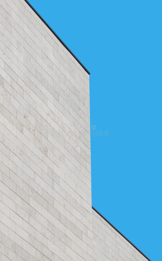 framförde den abstrakt bilden för arkitektur 3d form royaltyfria bilder