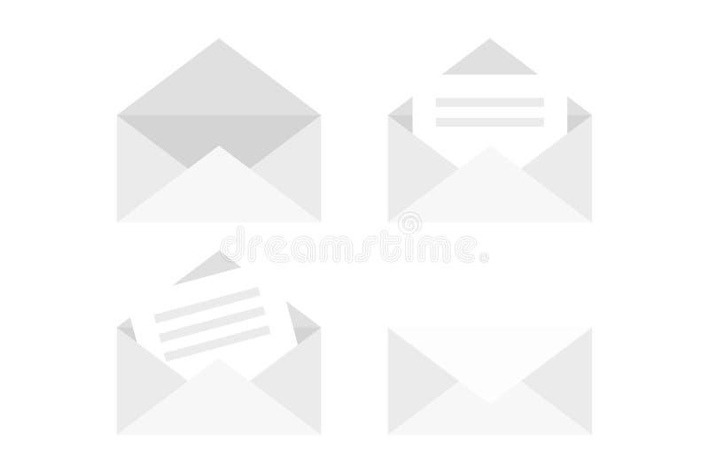 framförde hög bildkvalitet för kuvertet 3d white också vektor för coreldrawillustration stock illustrationer