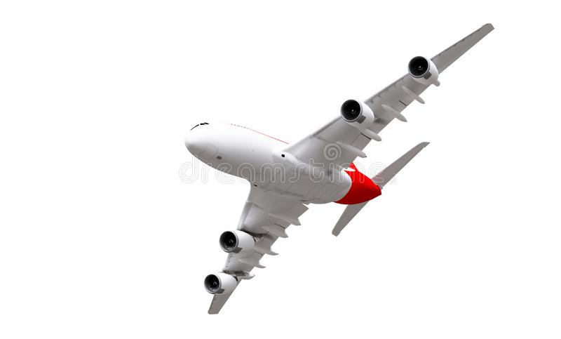 framf?rande 3d isolerad white f?r flygplan bakgrund vektor illustrationer