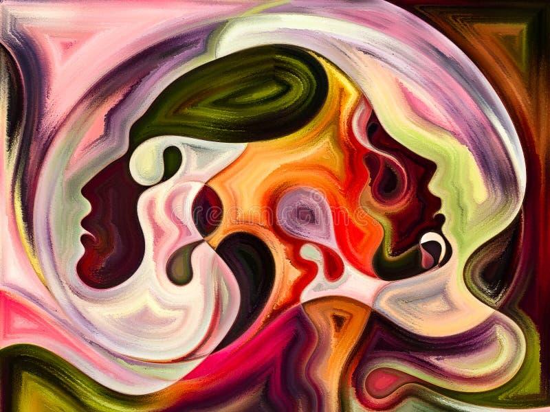 Framflyttning av inre färger stock illustrationer