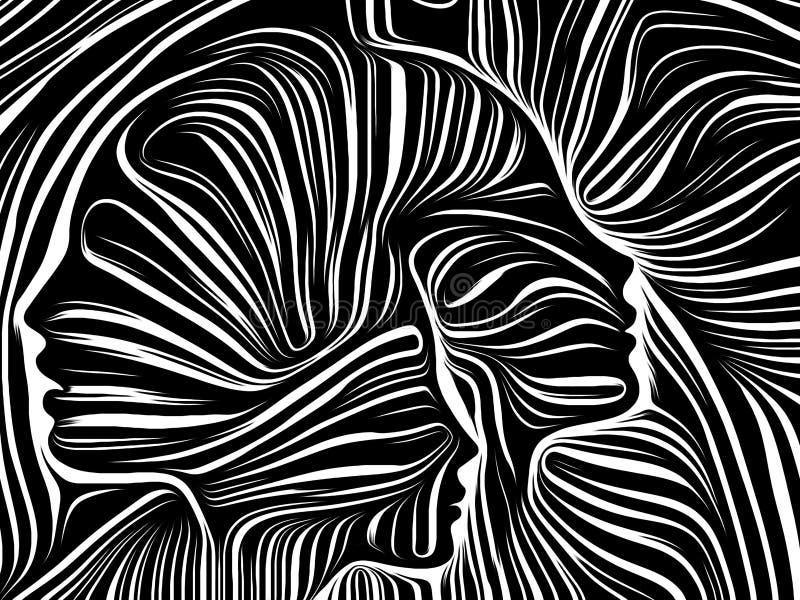 Framflyttning av inre linjer vektor illustrationer
