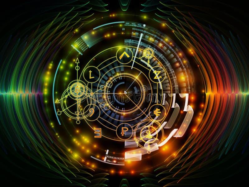 Framflyttning av mystikercirkeln vektor illustrationer