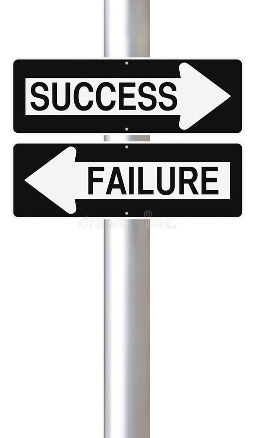 Framgång eller fel vektor illustrationer