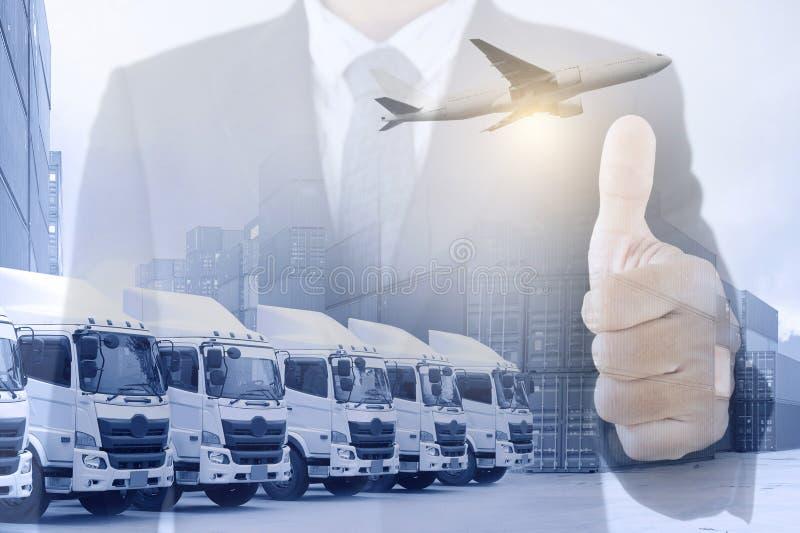 Framgång för bakgrund för logistiktrans.affär i service fotografering för bildbyråer