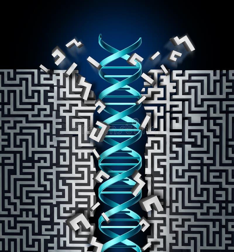 Framgång för genetisk forskning stock illustrationer