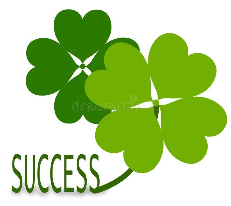 framgång för lyckaväxtshamrock royaltyfri illustrationer