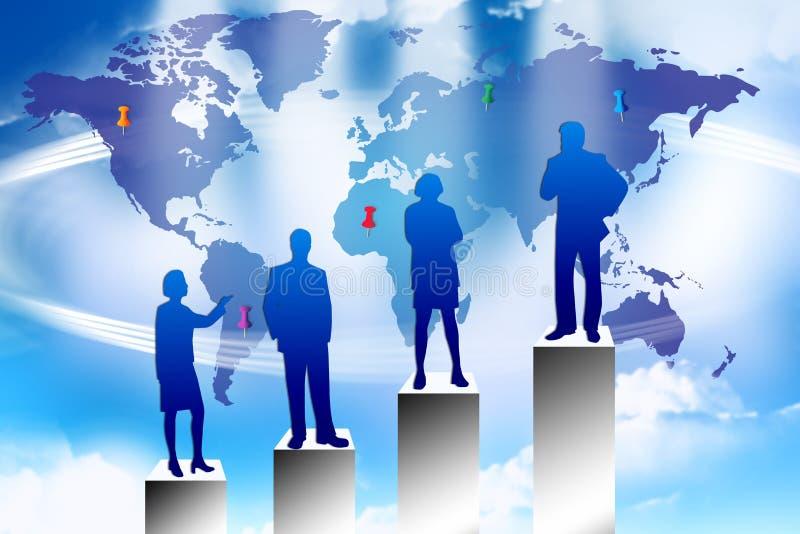framgång för marknadsföringsplan stock illustrationer