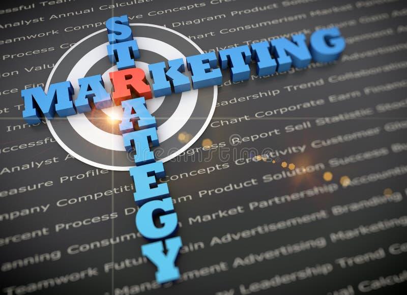 Framgång för marknadsföringsplan royaltyfri bild