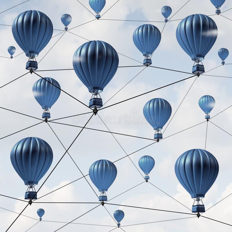 Framgång för nätverksanslutning royaltyfri illustrationer