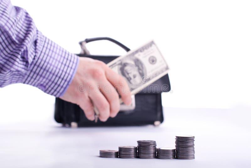 framgång för payday för dollarsedelhandpengar arkivbilder