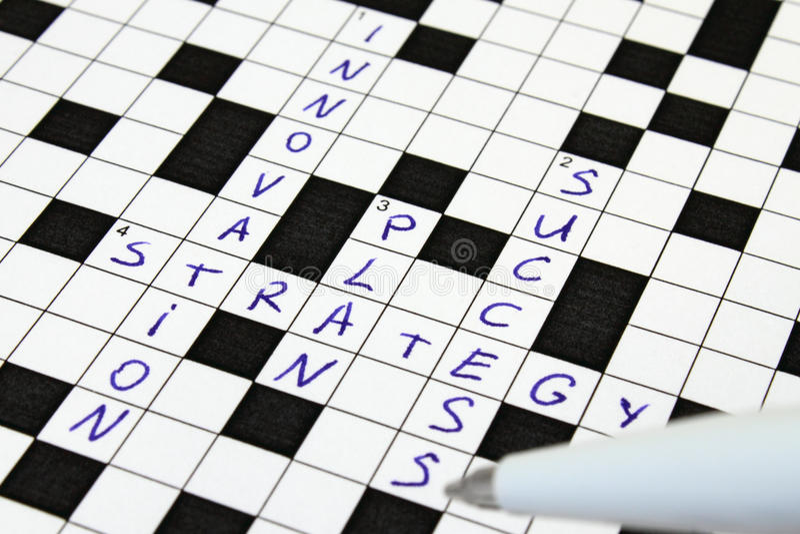 framgång för strategi för korsordinnovationplan royaltyfria bilder