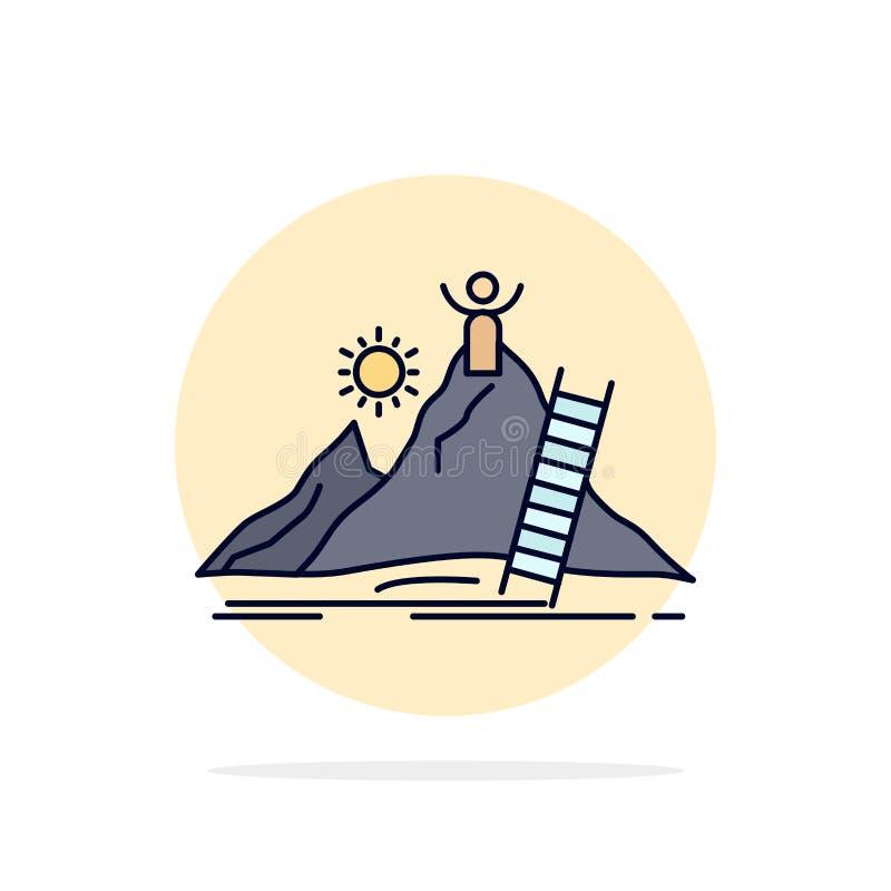 Framgång som är personlig, utveckling, ledare, för färgsymbol för karriär plan vektor vektor illustrationer