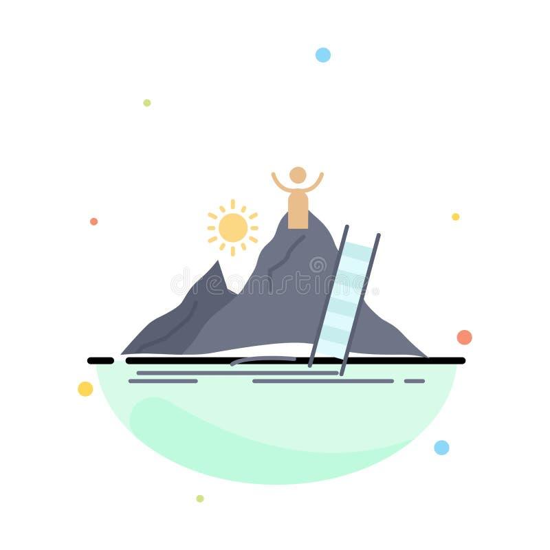Framgång som är personlig, utveckling, ledare, för färgsymbol för karriär plan vektor stock illustrationer