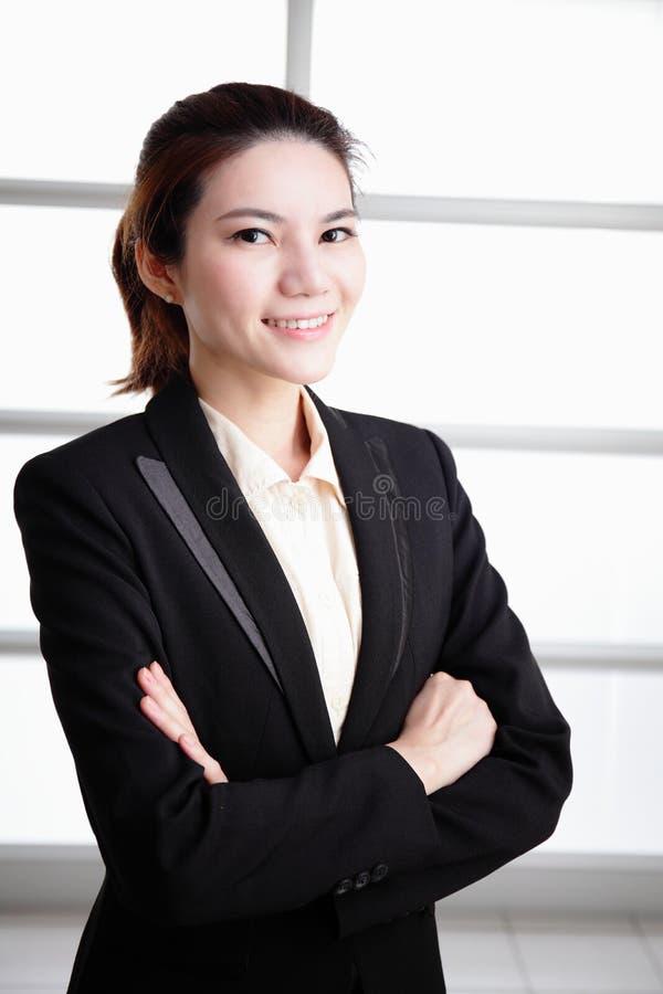 Framgångaffärskvinna royaltyfria bilder