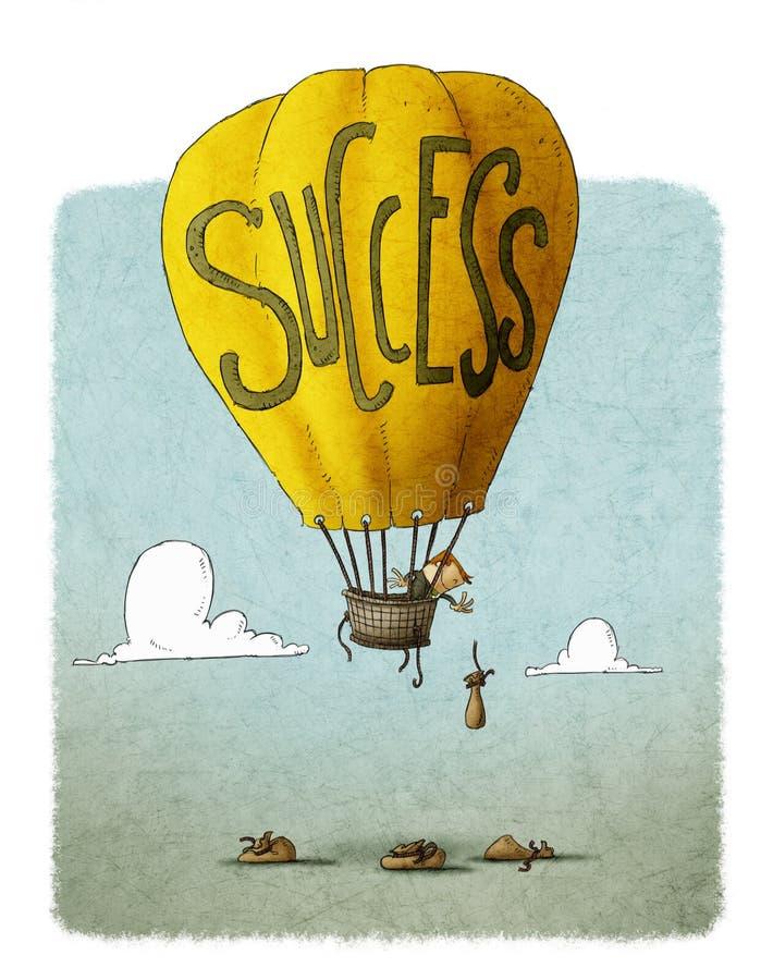 Framgångballong stock illustrationer