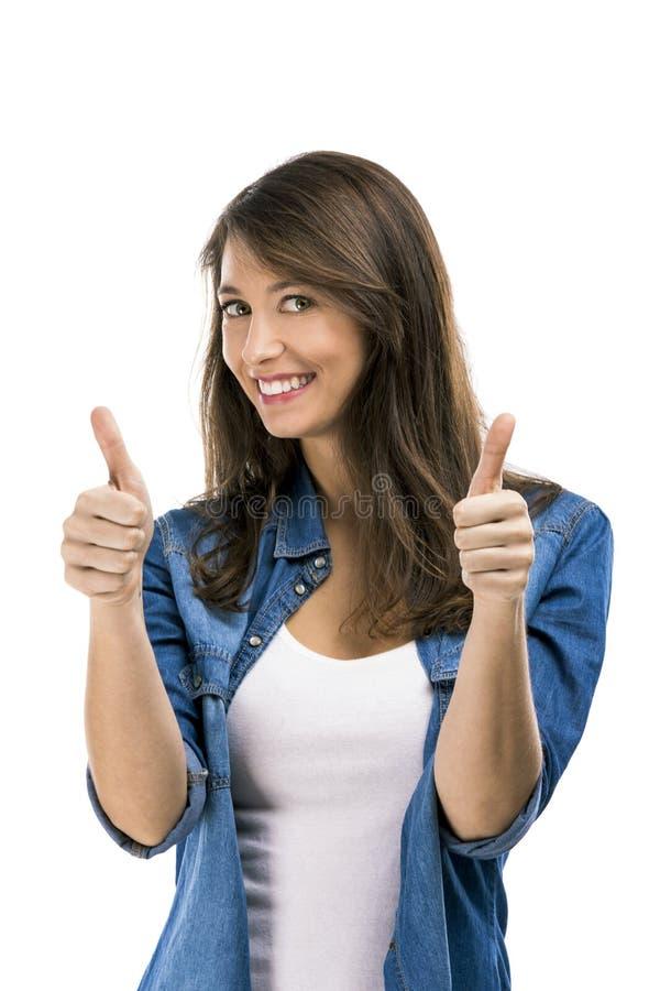 Download Framgångkvinna arkivfoto. Bild av leende, härlig, vänskapsmatch - 37348108