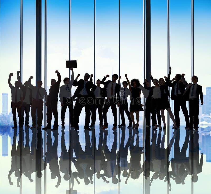 FramgångTeam Teamwork Togetherness Business Coworker begrepp fotografering för bildbyråer