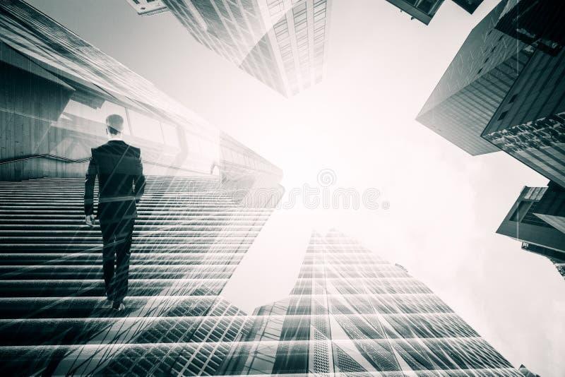 Framg?ng- och framtidsbegrepp fotografering för bildbyråer