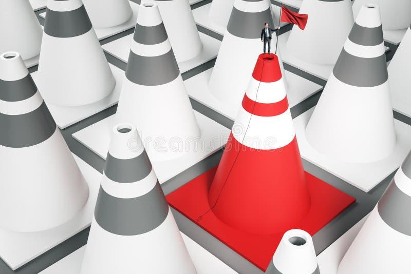Framg?ng- och ledarskapbegrepp stock illustrationer