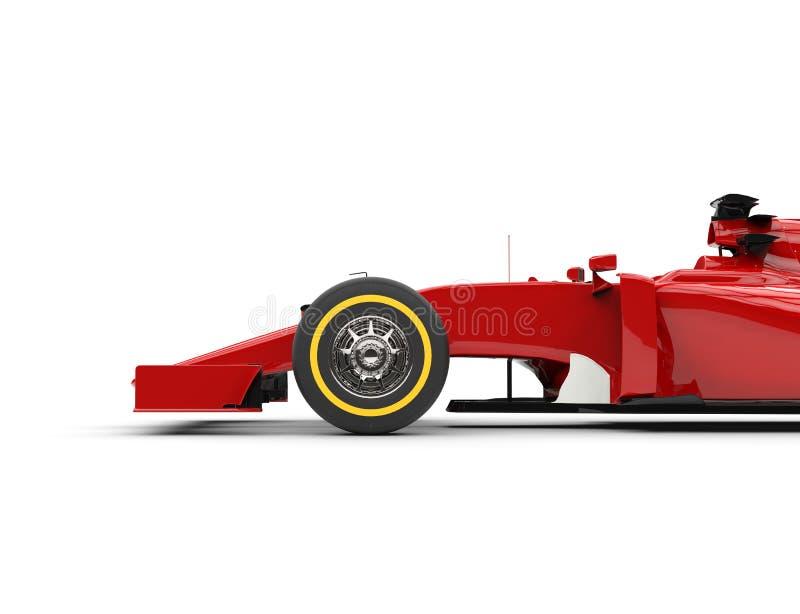 Framhjul av bilen för formel en royaltyfri bild