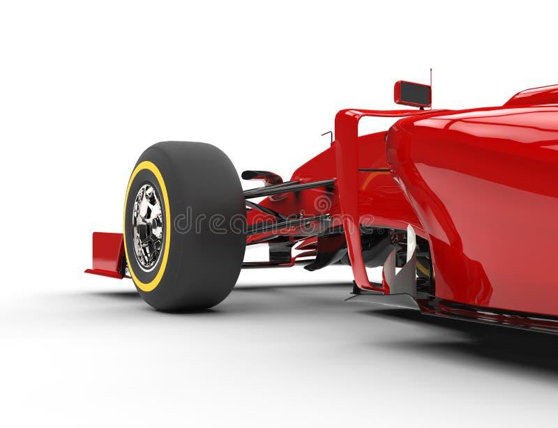 Framhjul och gummihjul för formel en royaltyfri illustrationer