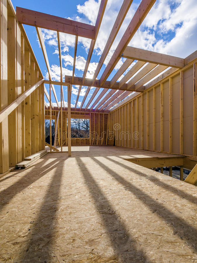 Download Framing Construction Of A  New House Stock Photo - Image: 36700988