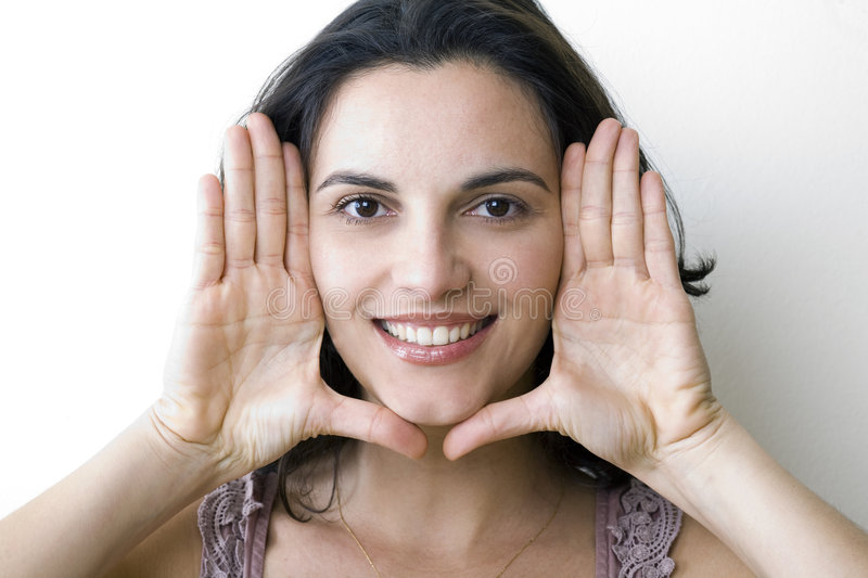 Download Framing the face stock photo. Image of female, cheerful - 8869732