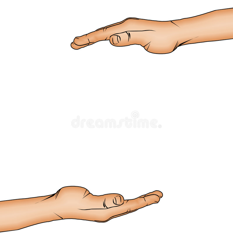 FRAMING HANDS stock illustration