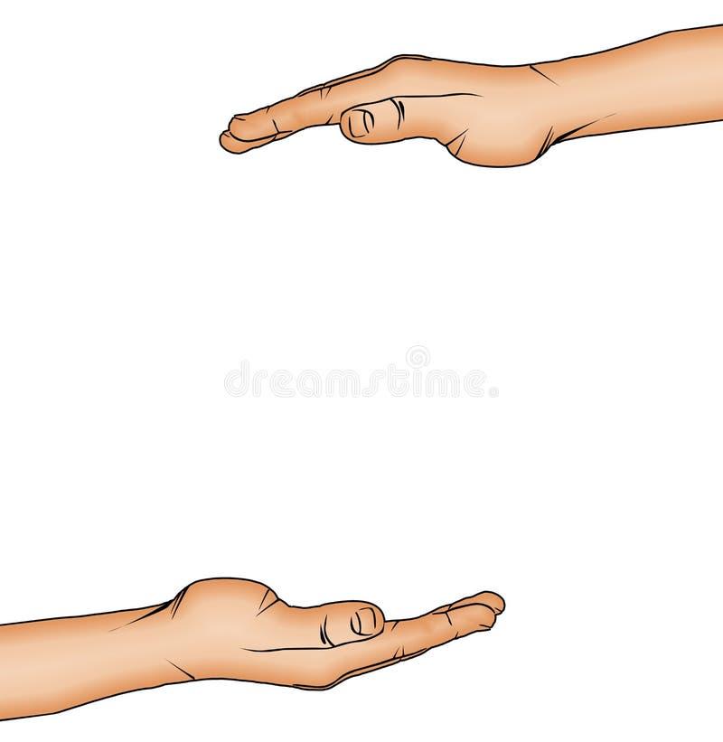 Download FRAMING HANDS stock vector. Image of artistic, sign, margin - 2310685