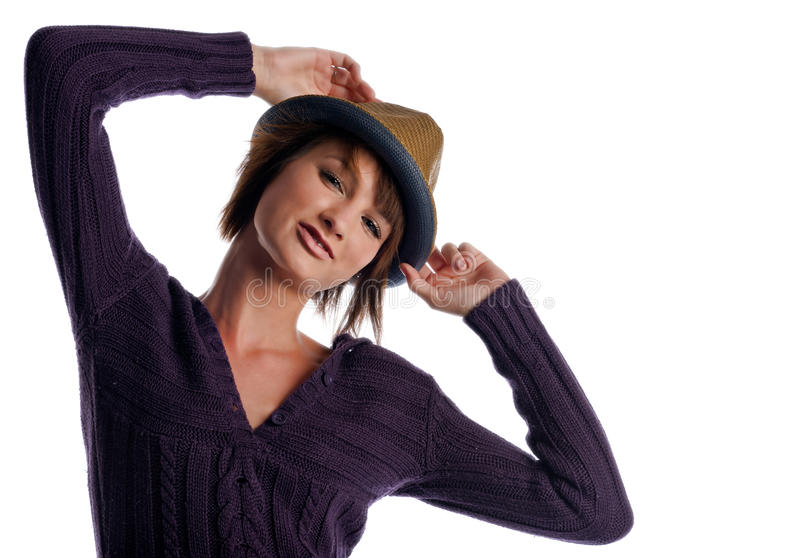 Download Framing the hat stock photo. Image of beautiful, skin - 26626746