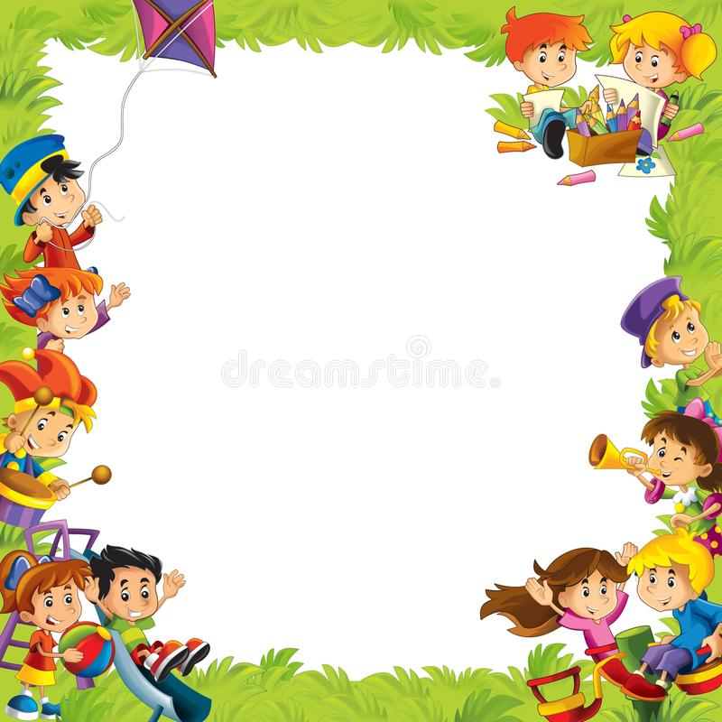 Download The Framing For Misc Usage - With People In Different Age - Small - Teenage - For Children Stock Illustration - Image: 29086320