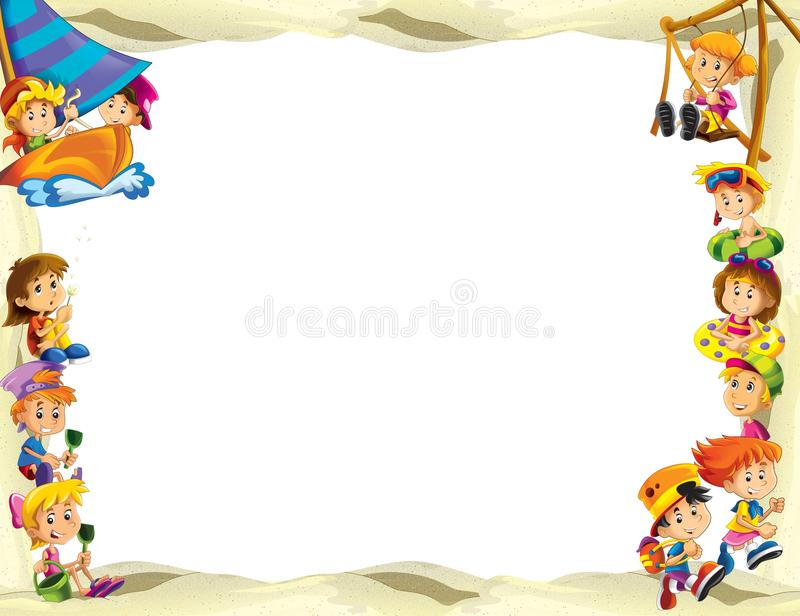Download The Framing For Misc Usage - With People In Different Age - Small - Teenage - For Children Stock Illustration - Illustration: 29086761