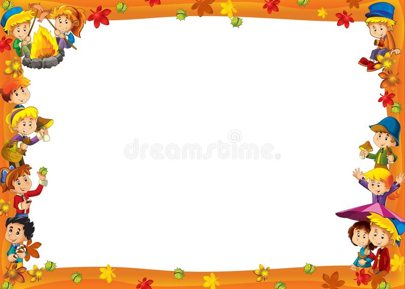 Download The Framing For Misc Usage - With People In Different Age - Small - Teenage - For Children Stock Illustration - Image: 29087204