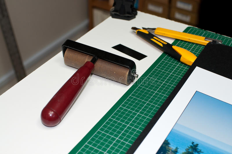Download Framing and mounting tools stock photo. Image of knife - 25938000