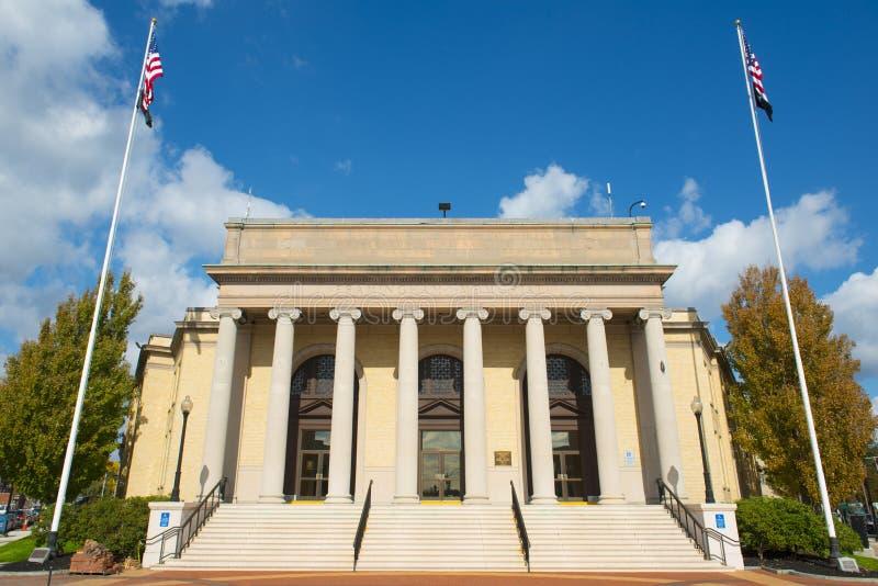 Framingham City Hall, Massachusetts, USA. Framingham City Hall in downtown Framingham, Massachusetts, USA stock images