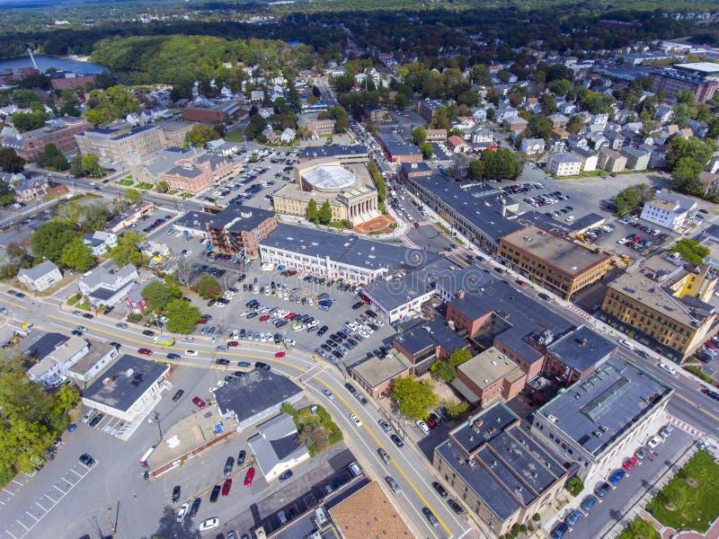 Framingham-Rathaus-Vogelperspektive, Massachusetts, USA lizenzfreie stockfotografie