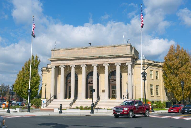 Framingham stadshus, Massachusetts, USA royaltyfri foto