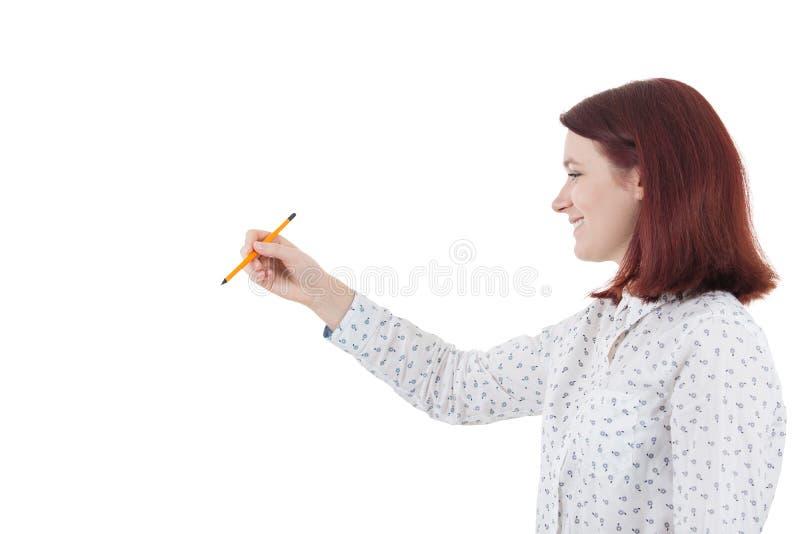 Framkalla hennes spänning arkivbild