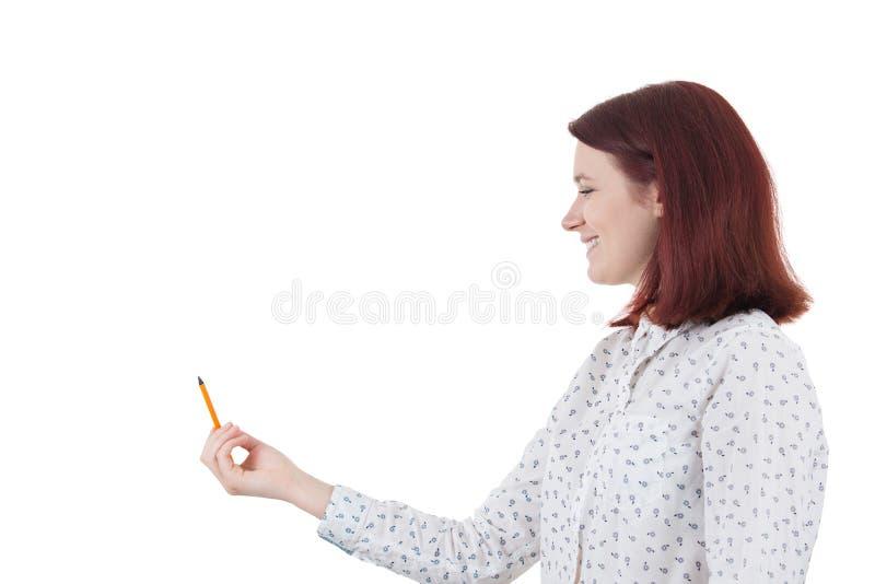 Framkalla hennes spänning arkivfoto