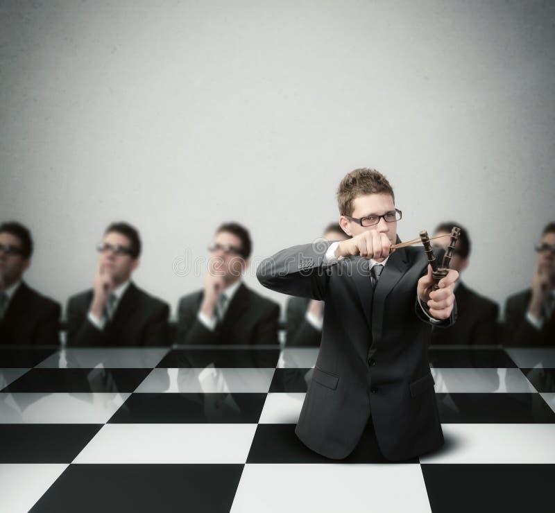 Framkallning av en vinnande strategi royaltyfri bild